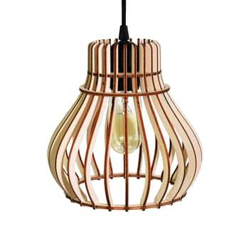 Lámpara colgante Barrel pantalla jaula de madera