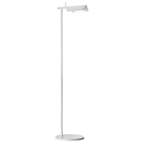 Minimalistisk TAB F LED-gulvlampe i hvitt