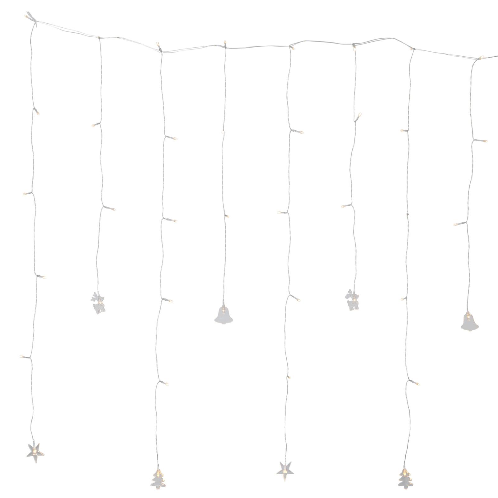 Tenda luminosa LED Decy con motivi natalizi