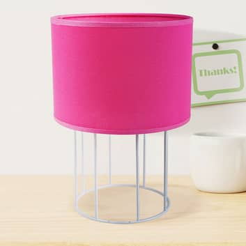 Stolní lampa Carla S, růžová
