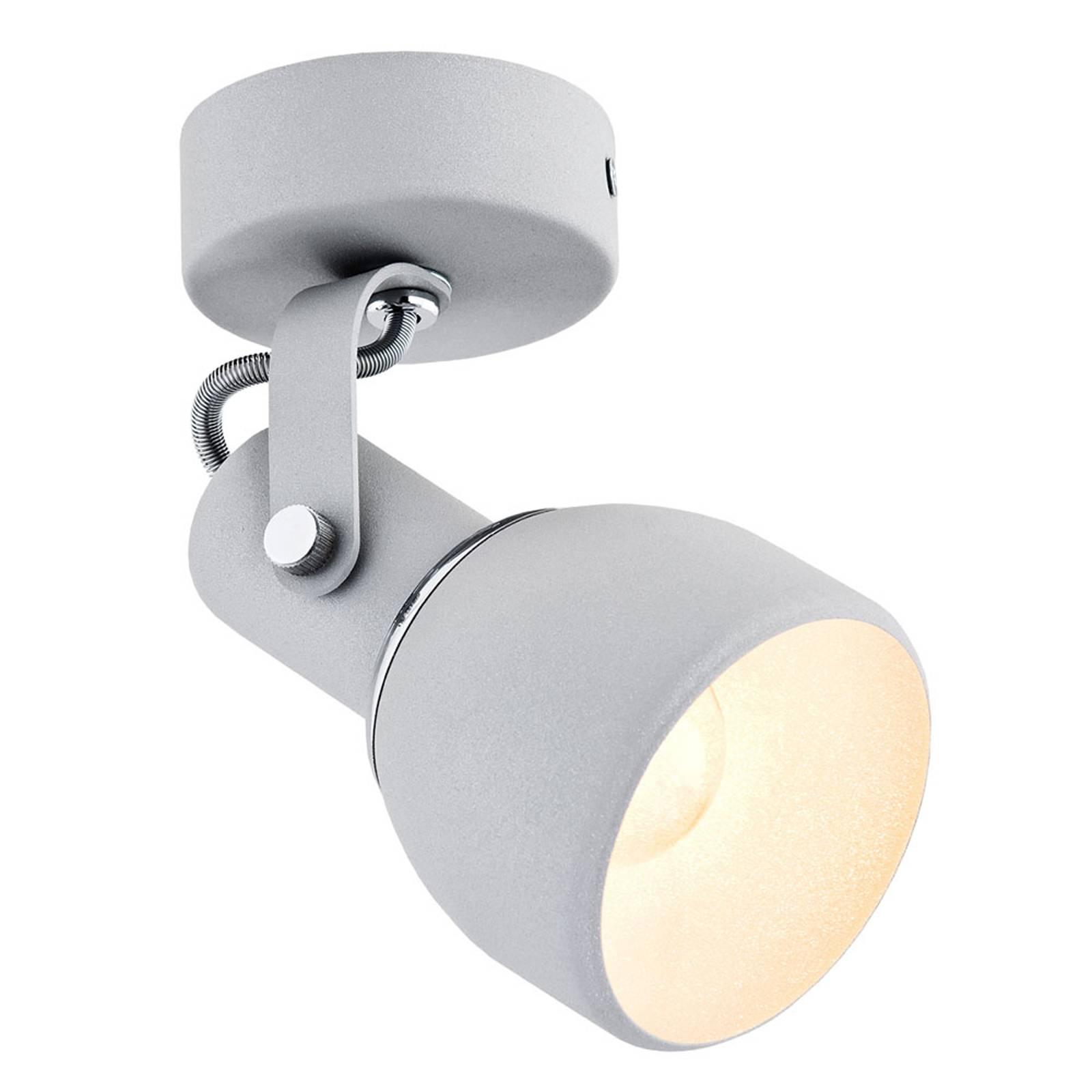Faretto a soffitto Fiord, 1 luce, argento