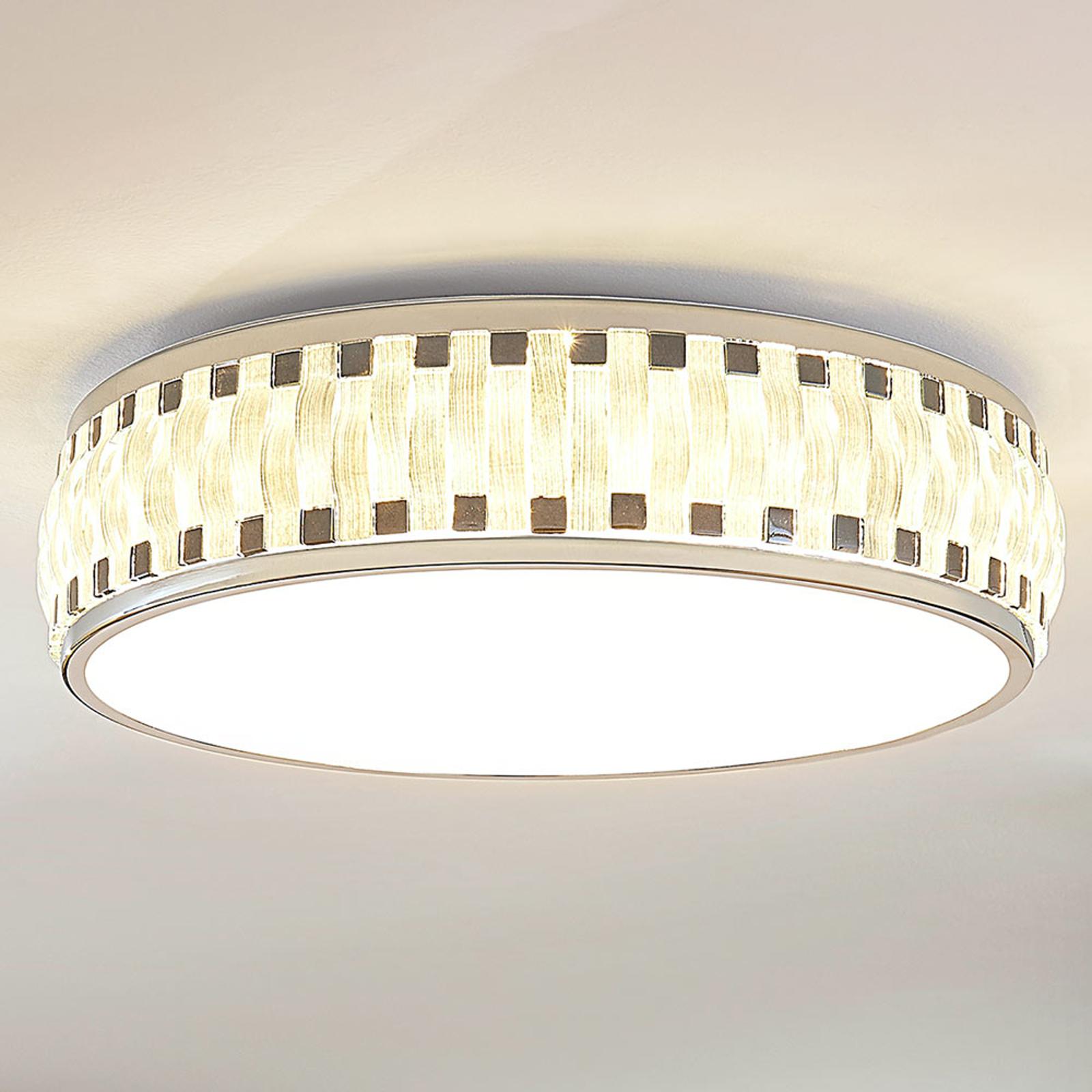 Okrągła, ściemniana lampa sufitowa LED Arjun