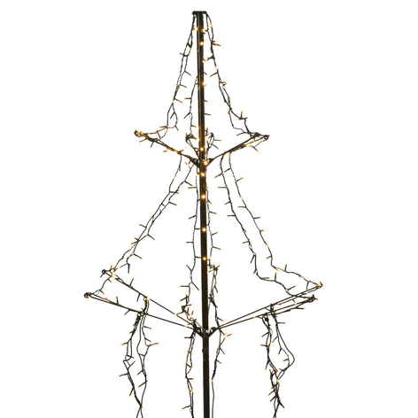 LED-Baum mit Erdspieß, 2-stufig, 240-flg. 135 cm