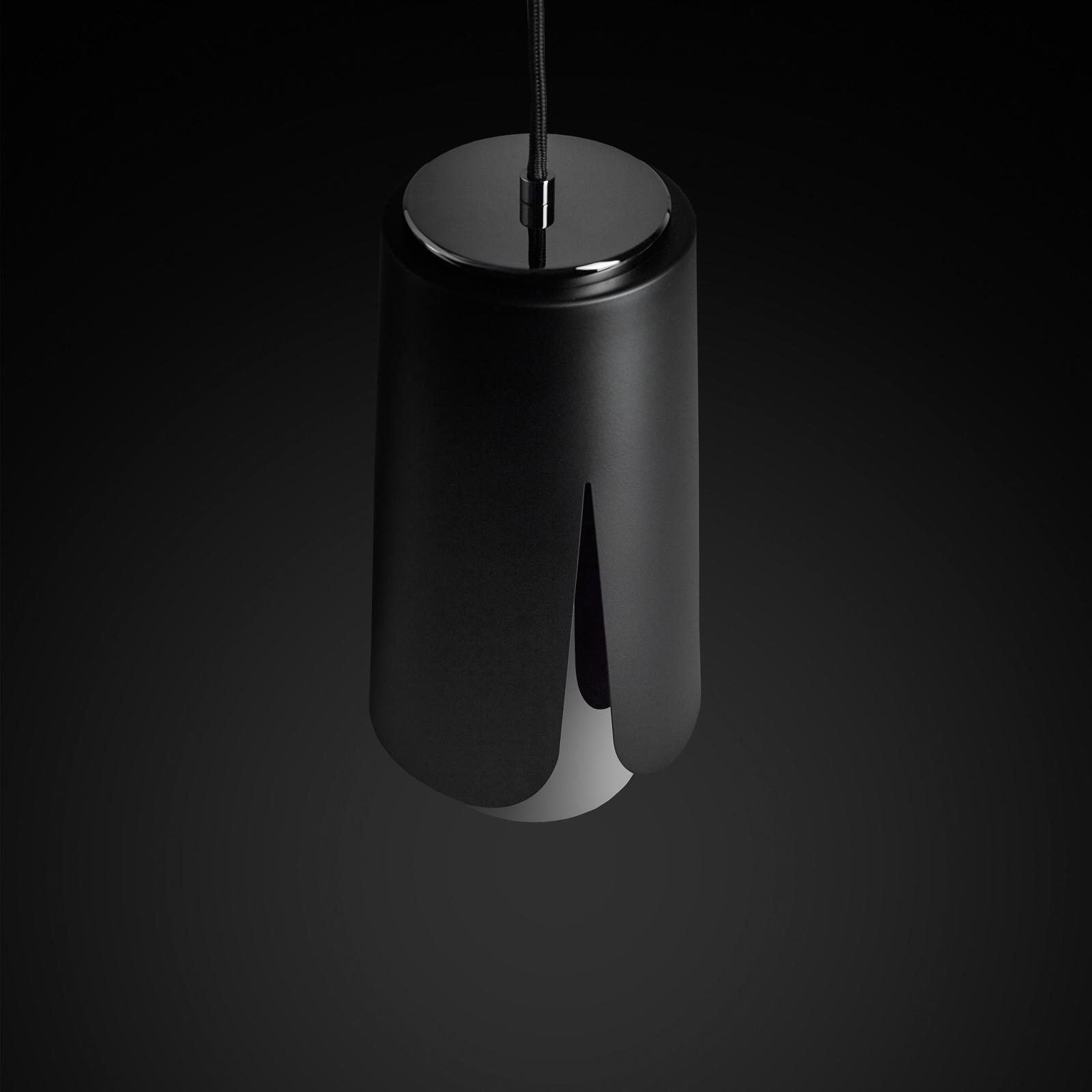 Prandina Tulipa hanglamp zwart/zwart-chroom