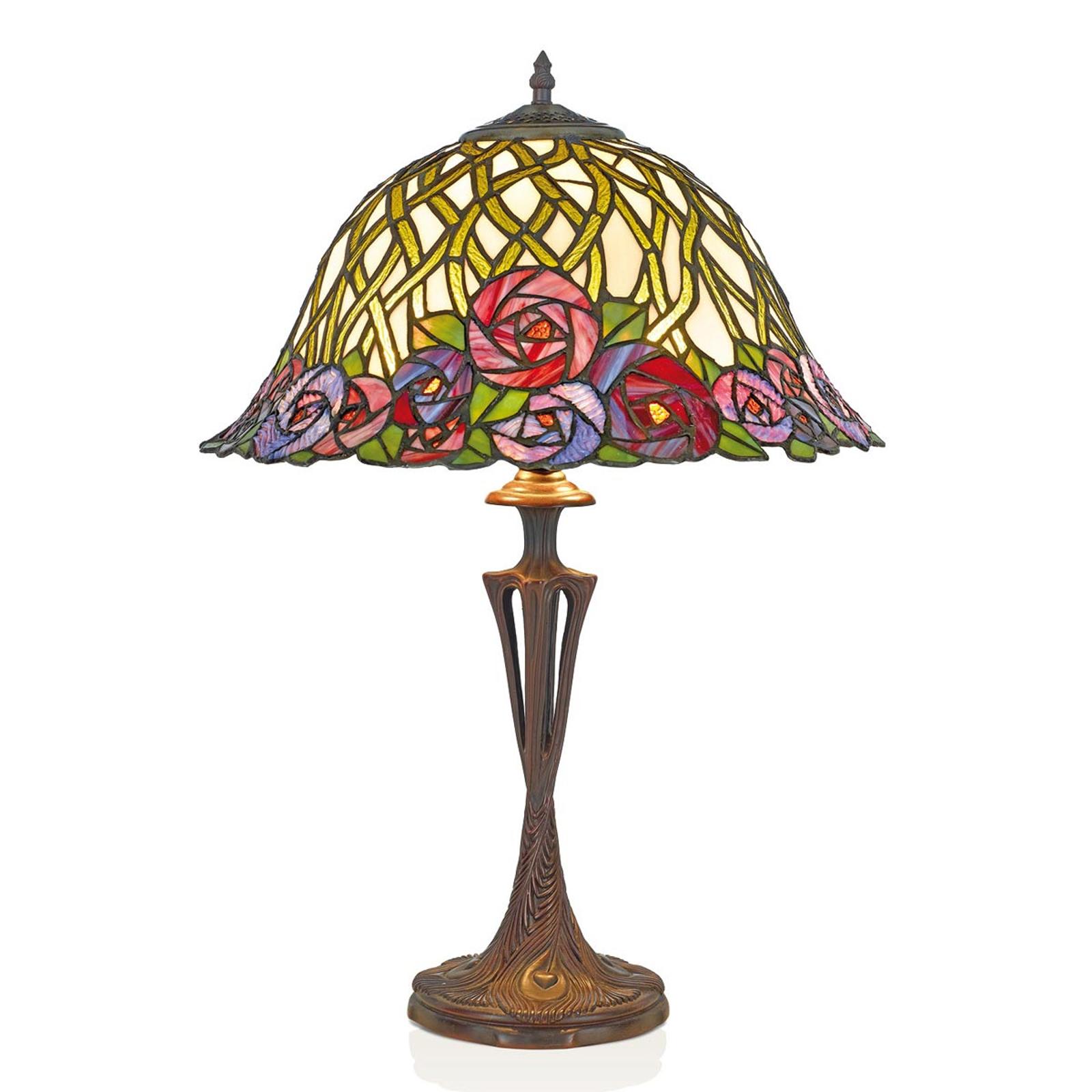 Lampa stołowa Melika w stylu Tiffany