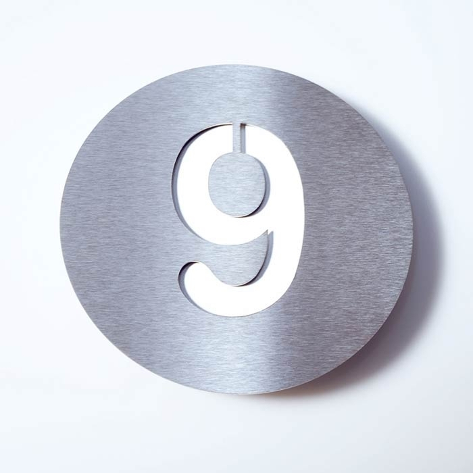 Stainless steel house number Round_1057087_1