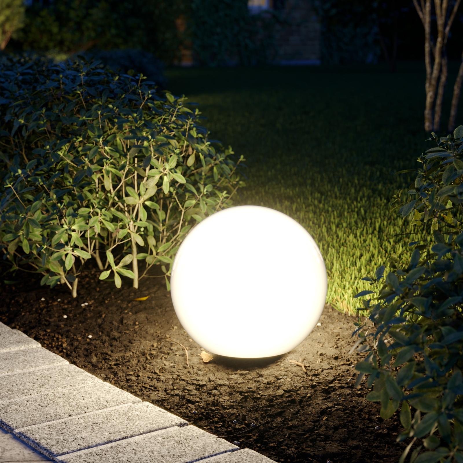 Lampa i kulform Cumulus S till trädgården Ø 30 cm