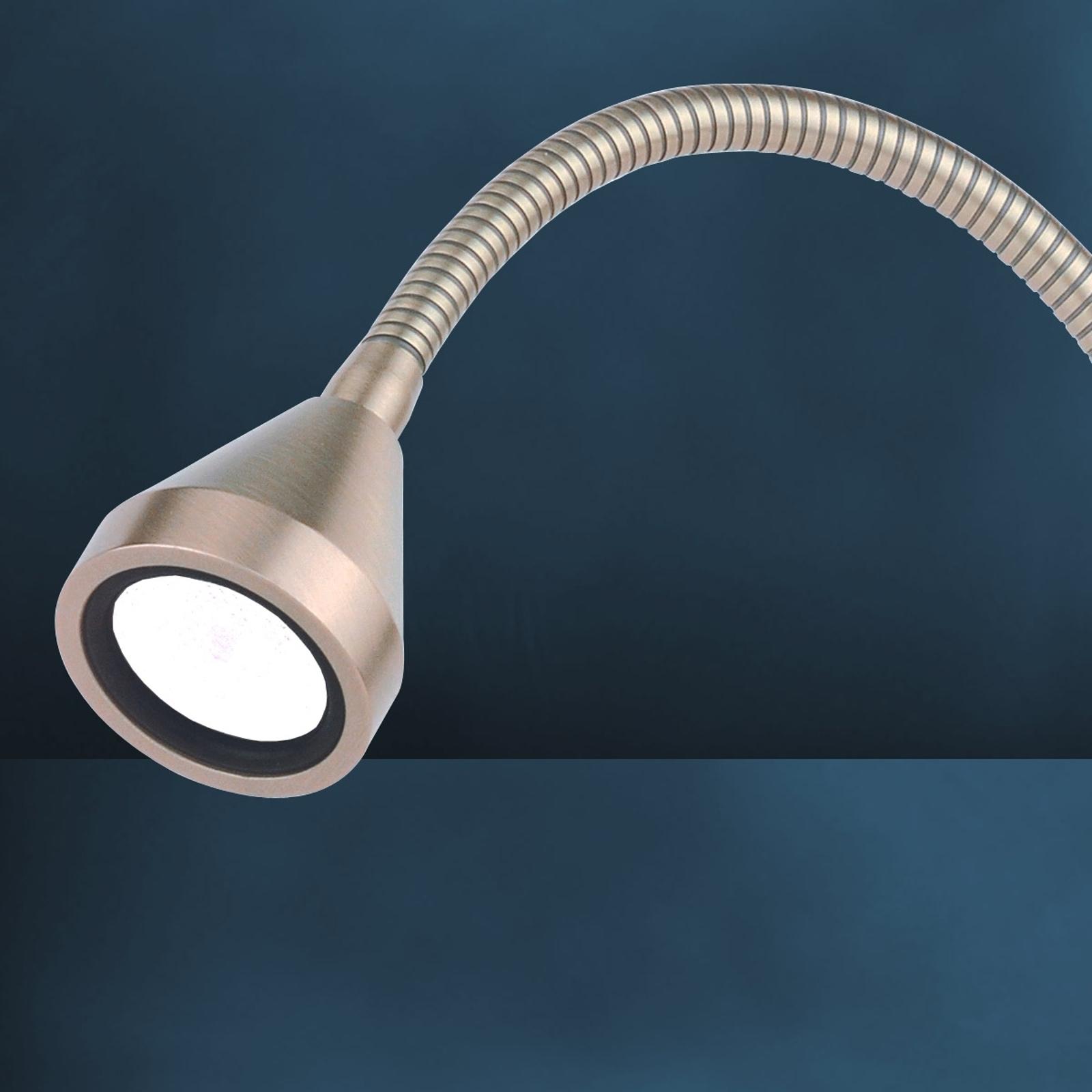 LED da tavolo MINI, braccio flex, bianco neutro