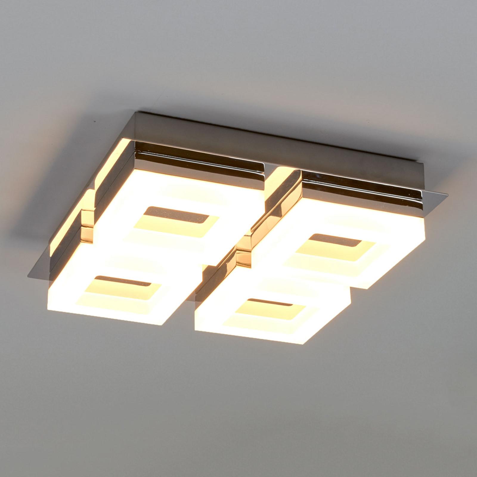 Vierflammige LED-Bad-Deckenleuchte Marija