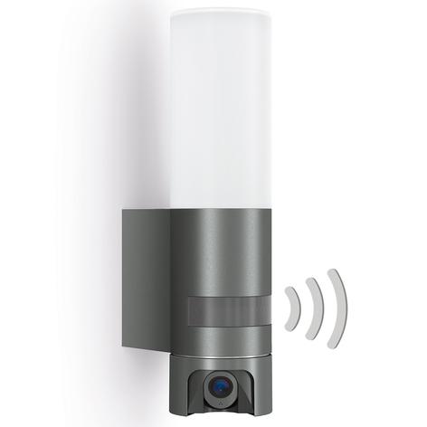 Sensor utendørs LED-vegglampe L 620 Cam- antrasitt