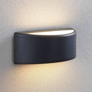 LED-Außenwandlampe Alaiza, IP65, halbrund
