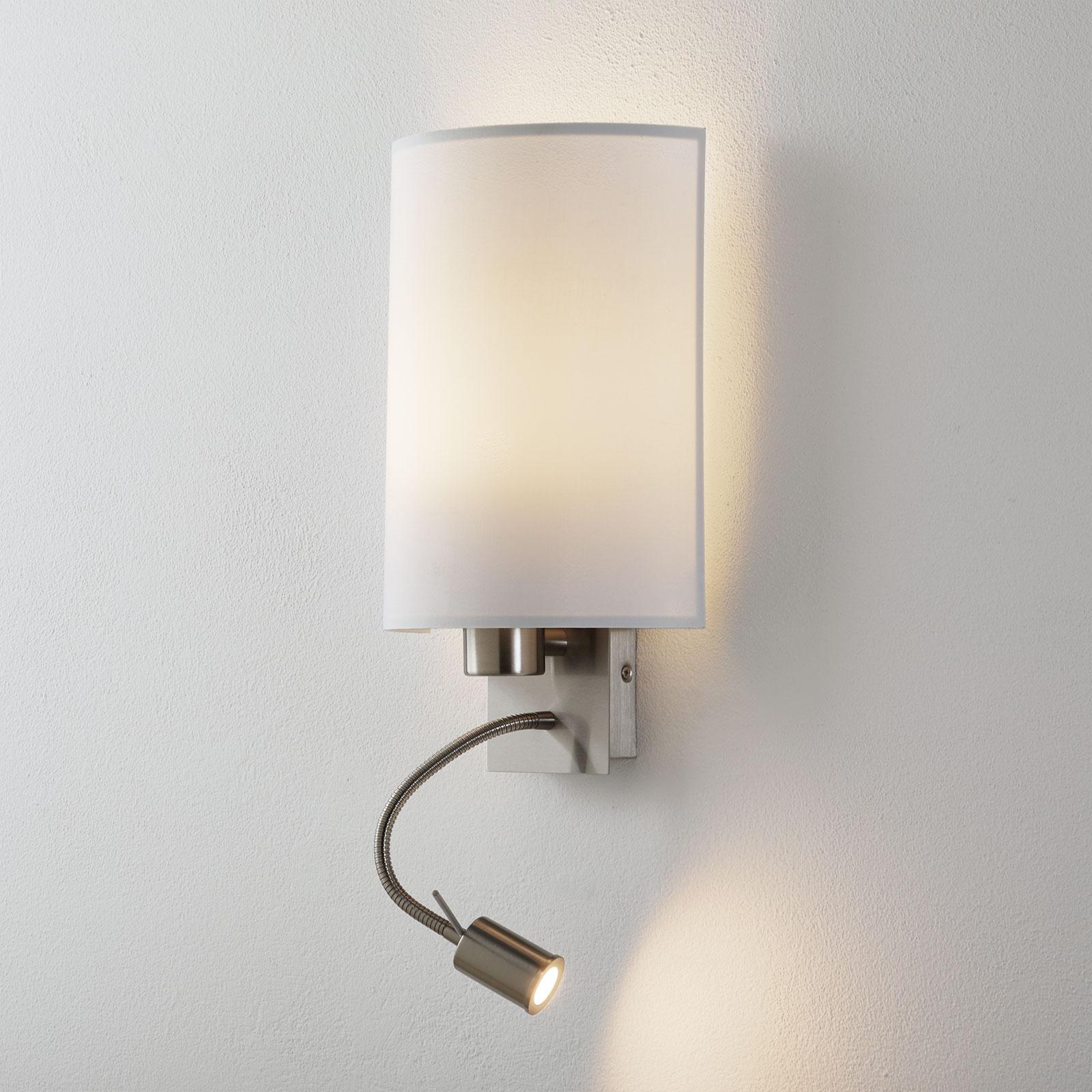 Lucande Patrik wandlamp leeslamp rond wit