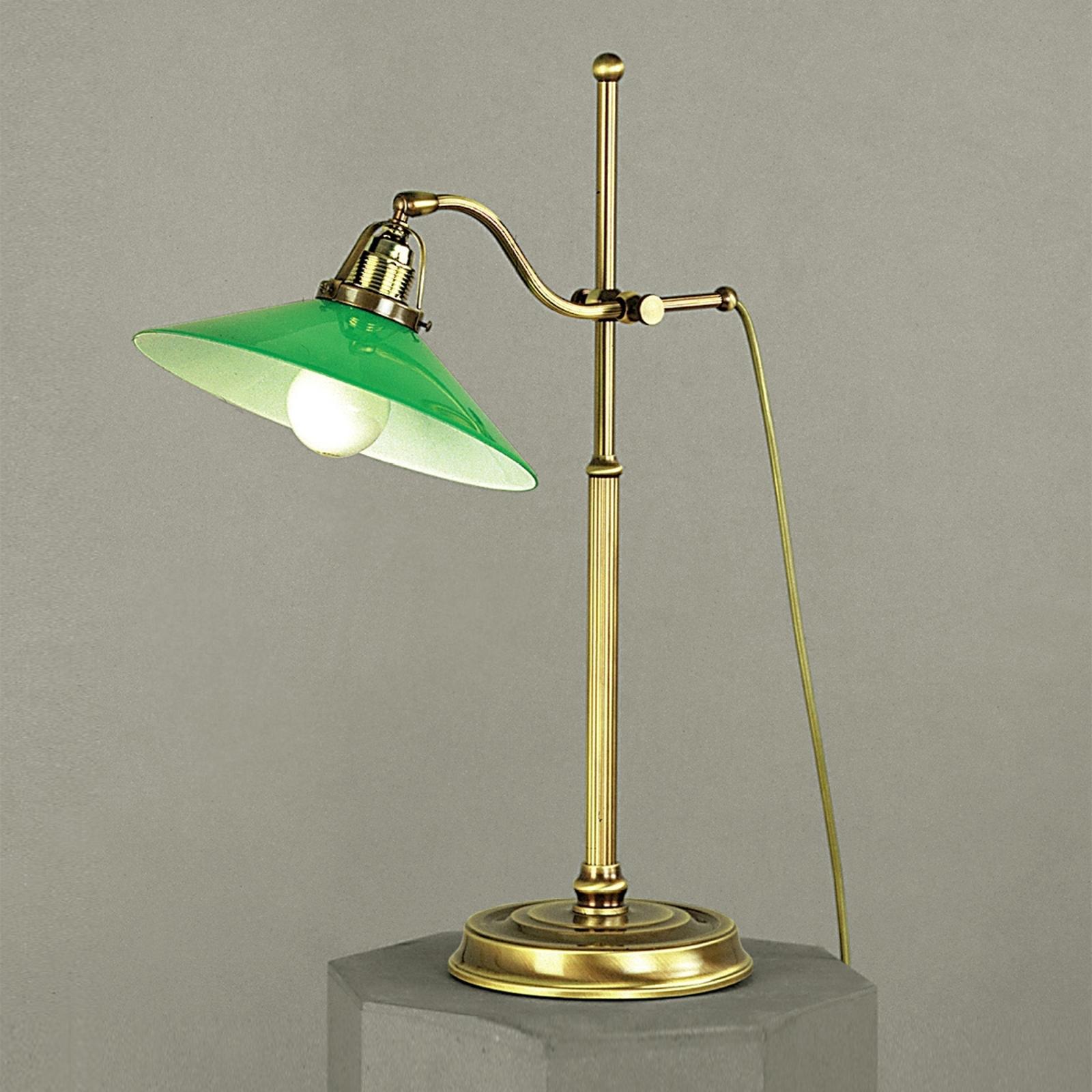 Grønn VERDINA bordlampe med patina