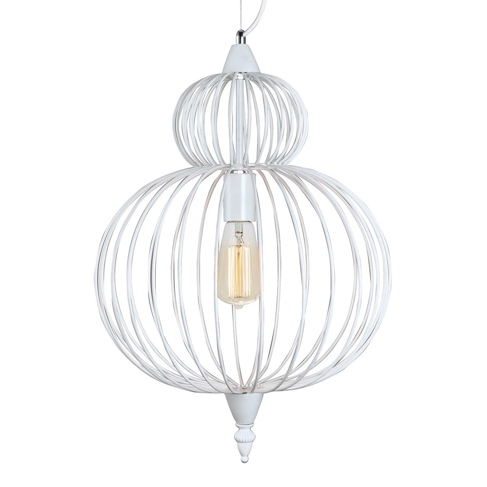 Hanglamp Zola met kooikap in Wit