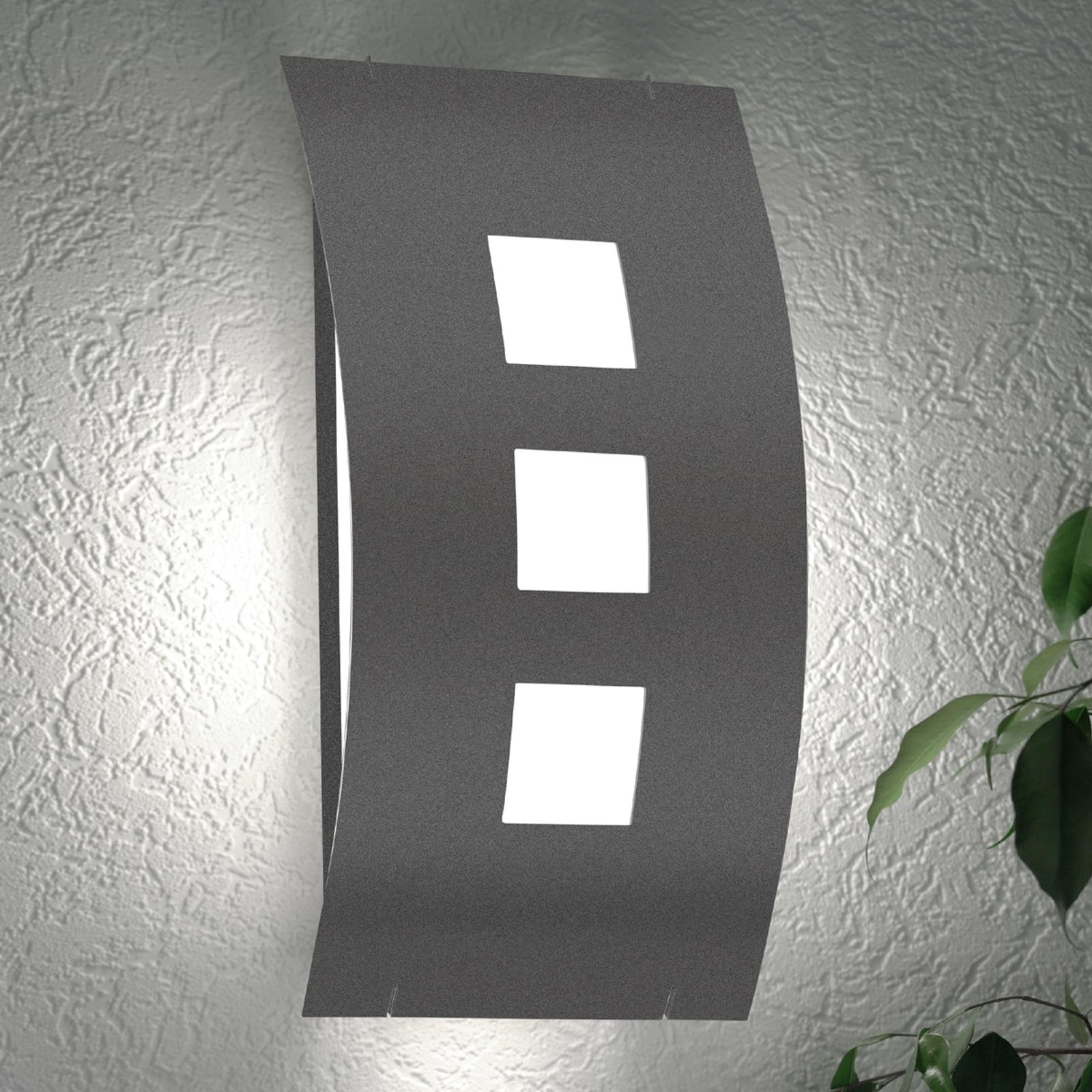 lámpara para pared exterior Graal RAL7016