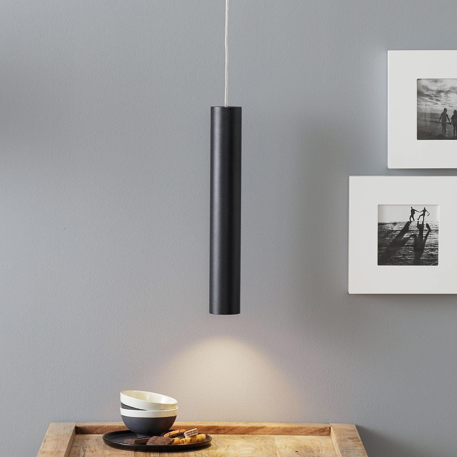Lucande Luana lampa wisząca 40cm czarna