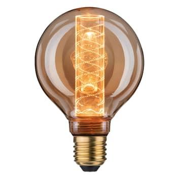 LED-globlampa E27 4W G95 Inner Glow spiralmönster