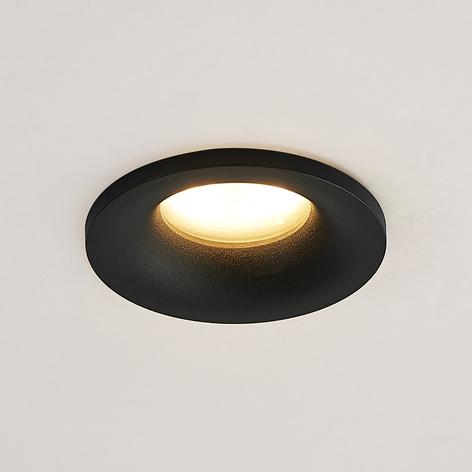 Arcchio Enia lampe encastrée, ronde, noire