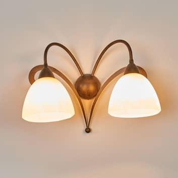 Lampa ścienna LUCA w stylu dworkowym 2-punktowa