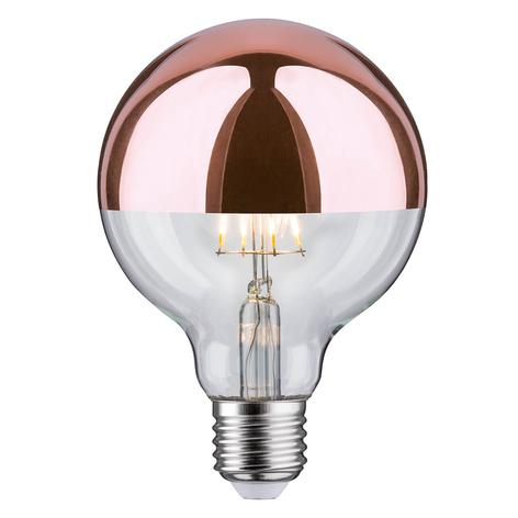 Paulmann espejo LED E27 6,5W 827 G95 cobre