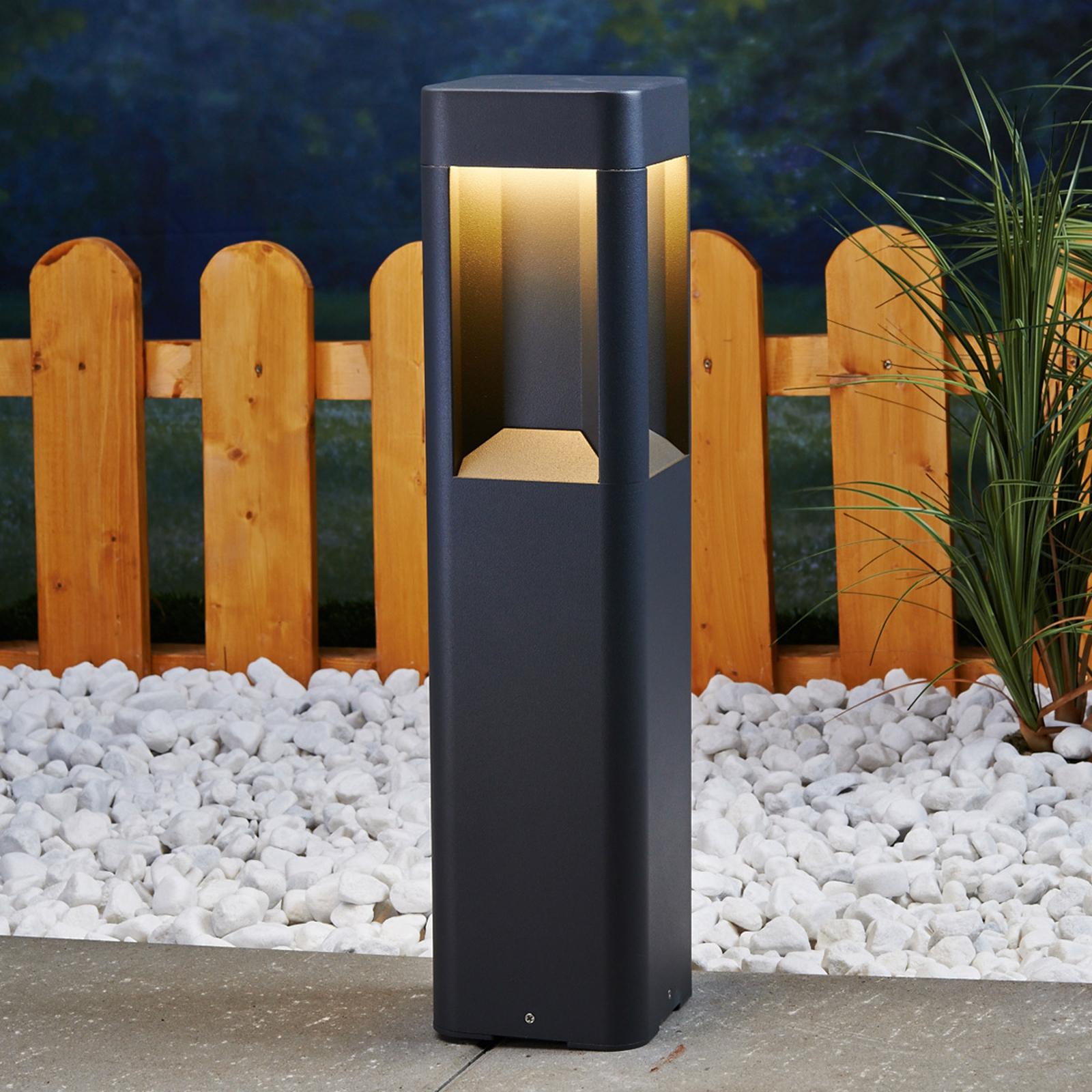 LED-sokkellampe Annika av aluminium, 50 cm