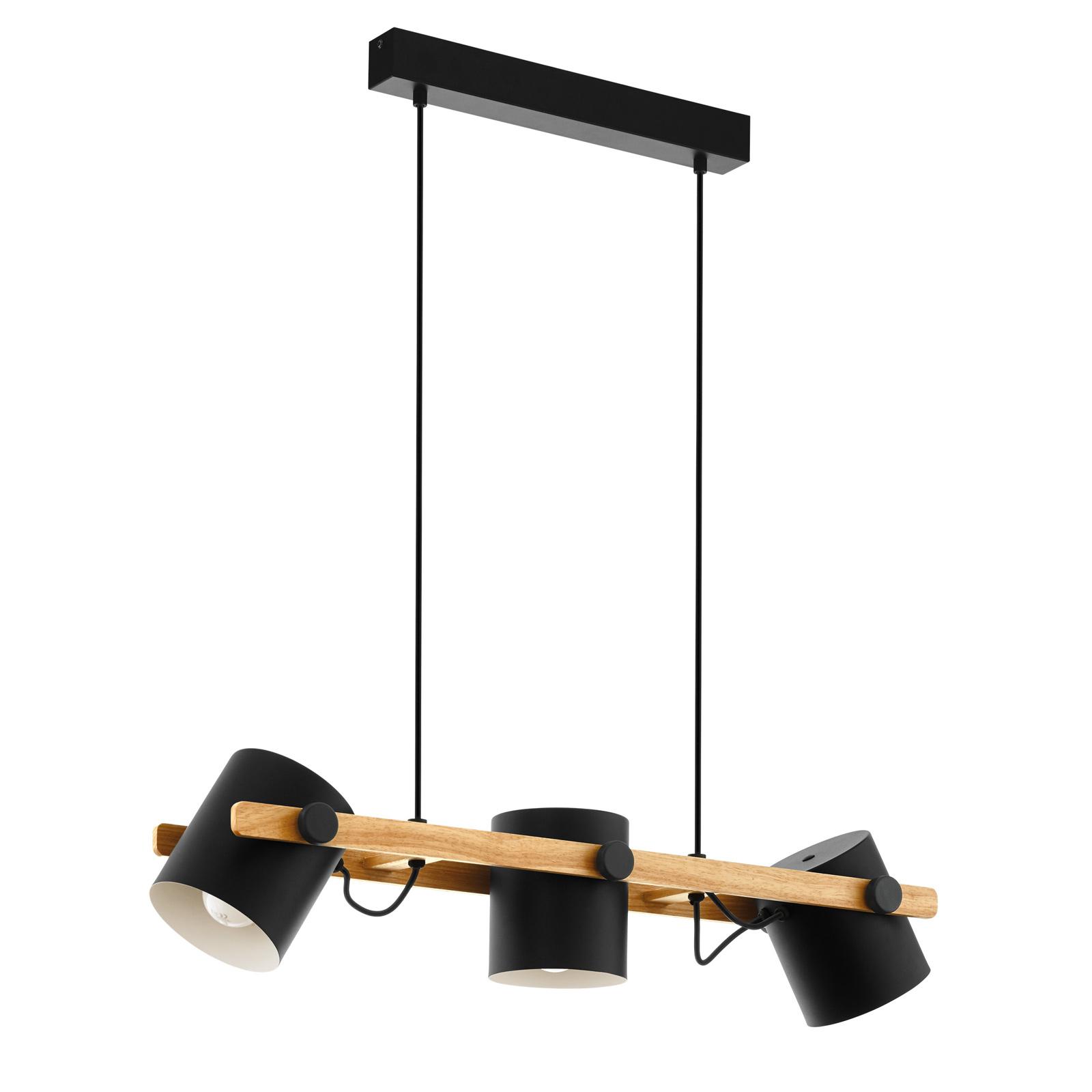 Lampada a sospensione Hornwood, elementi di legno