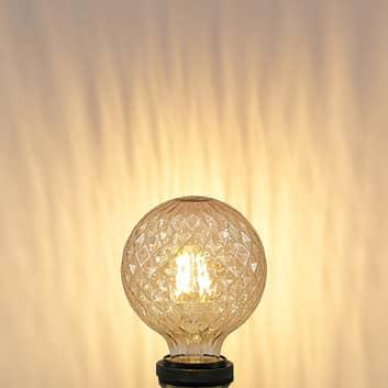 Lucande LED-pære E27 G95 4 W 2.700 K, ravfarvet