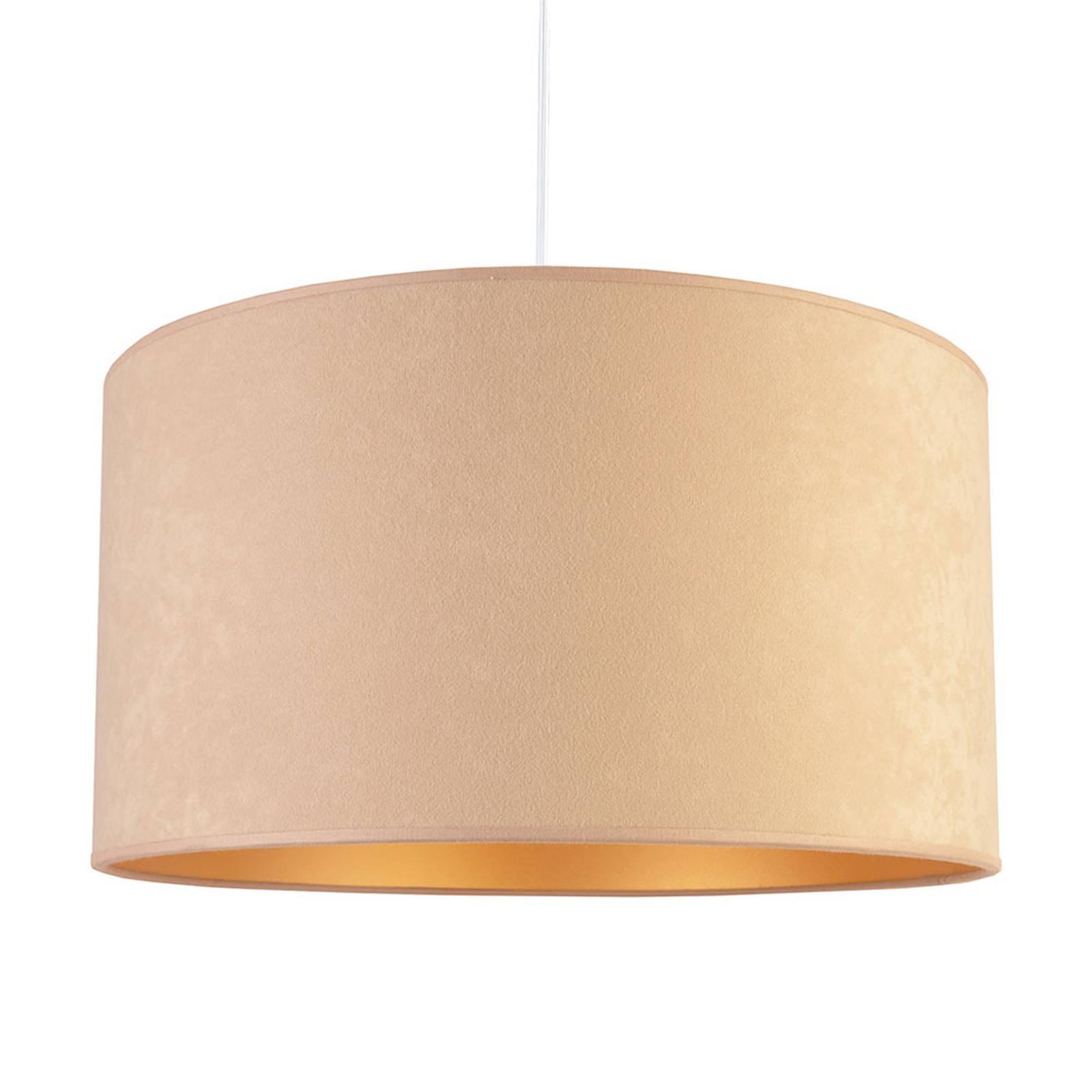 Lampa wisząca Roller, beżowa/złota