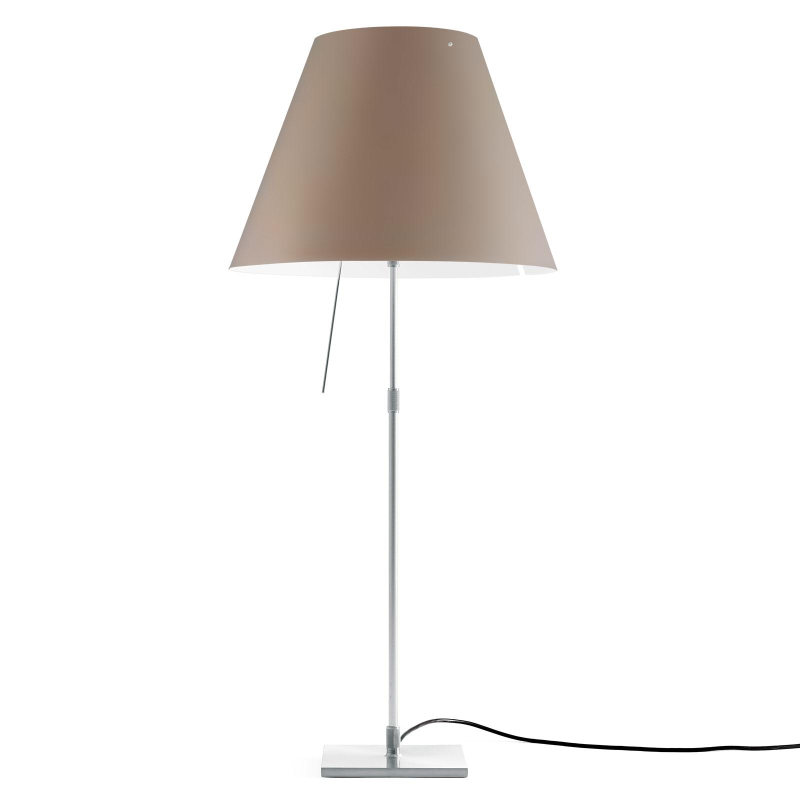 Luceplan Luceplan Costanza stolní lampa D13 hliník/nugátová