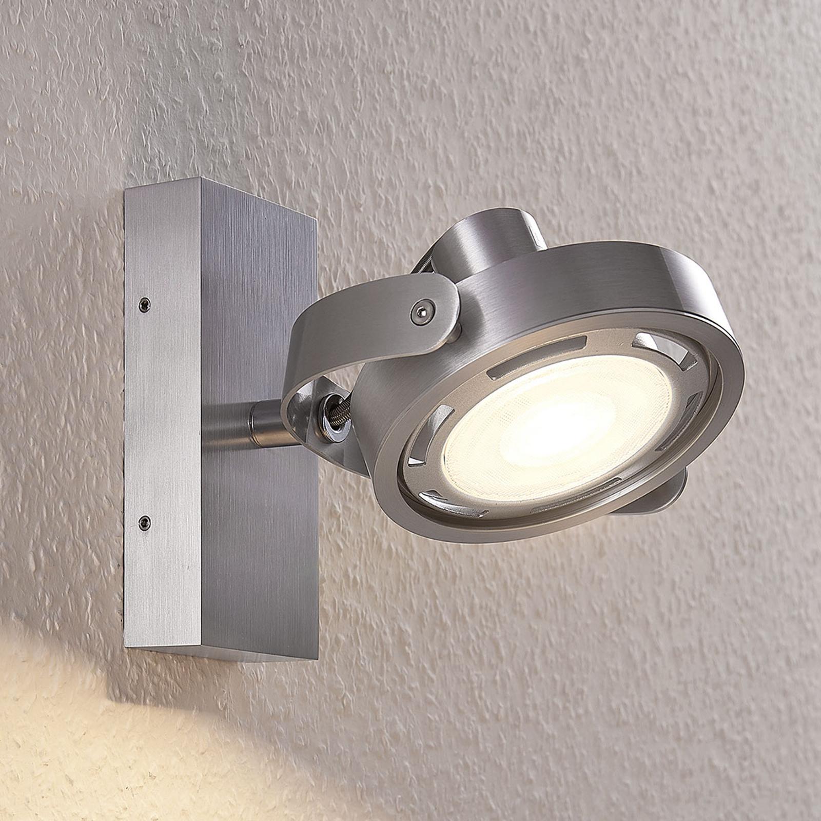 LED-Strahler Munin, dimmbar, alu, 1-flammig