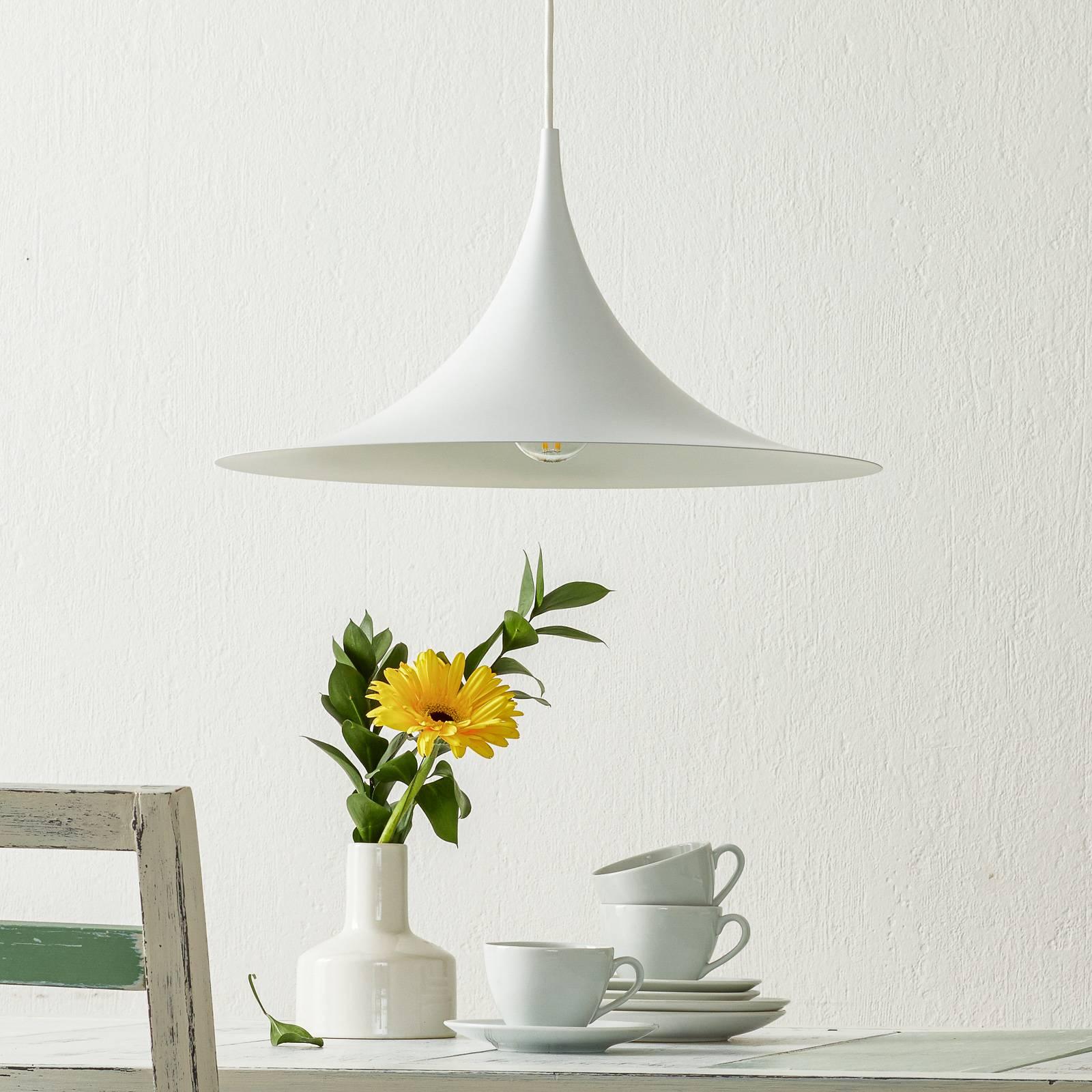 GUBI Semi lampa wisząca Ø 47 cm biała