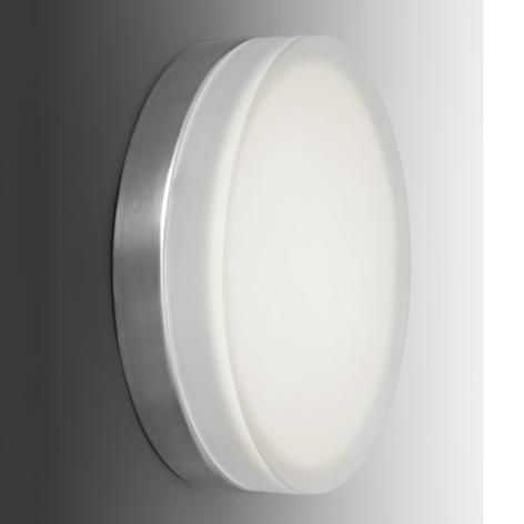 Pelkistetty pyöreä LED-seinävalaisin Briq 01