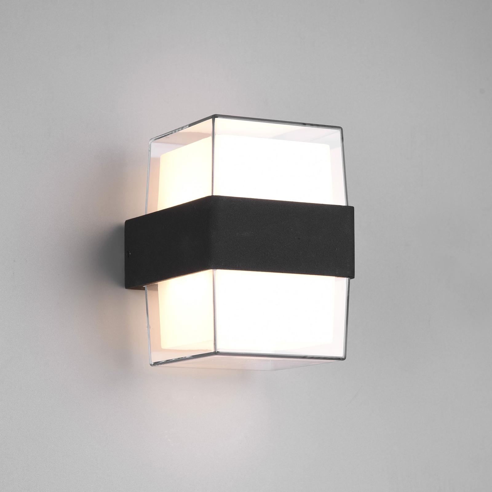 LED-Außenwandleuchte Molina, eckig, anthrazit