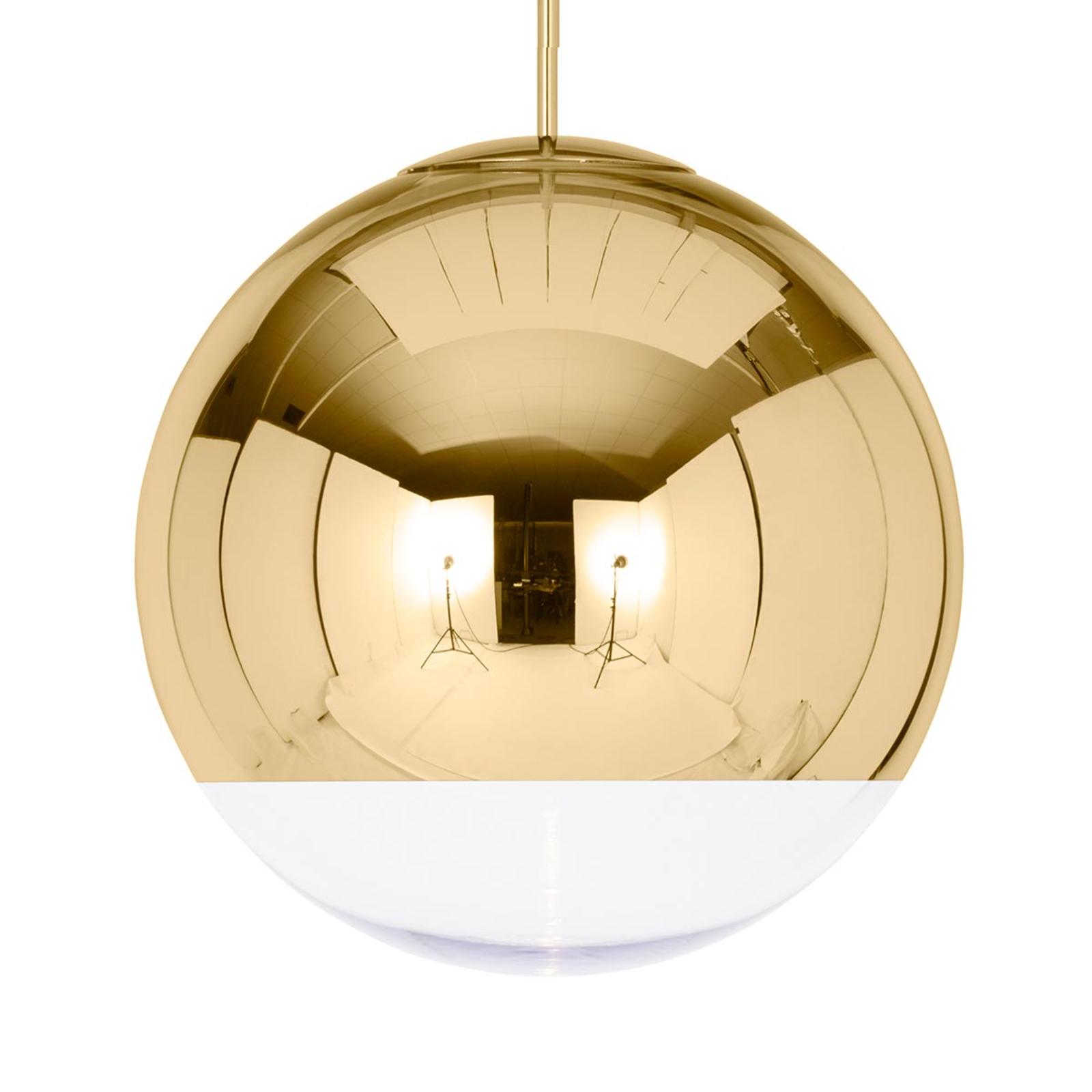 Lampada sosp dorata lucida Mirror Ball 50 cm