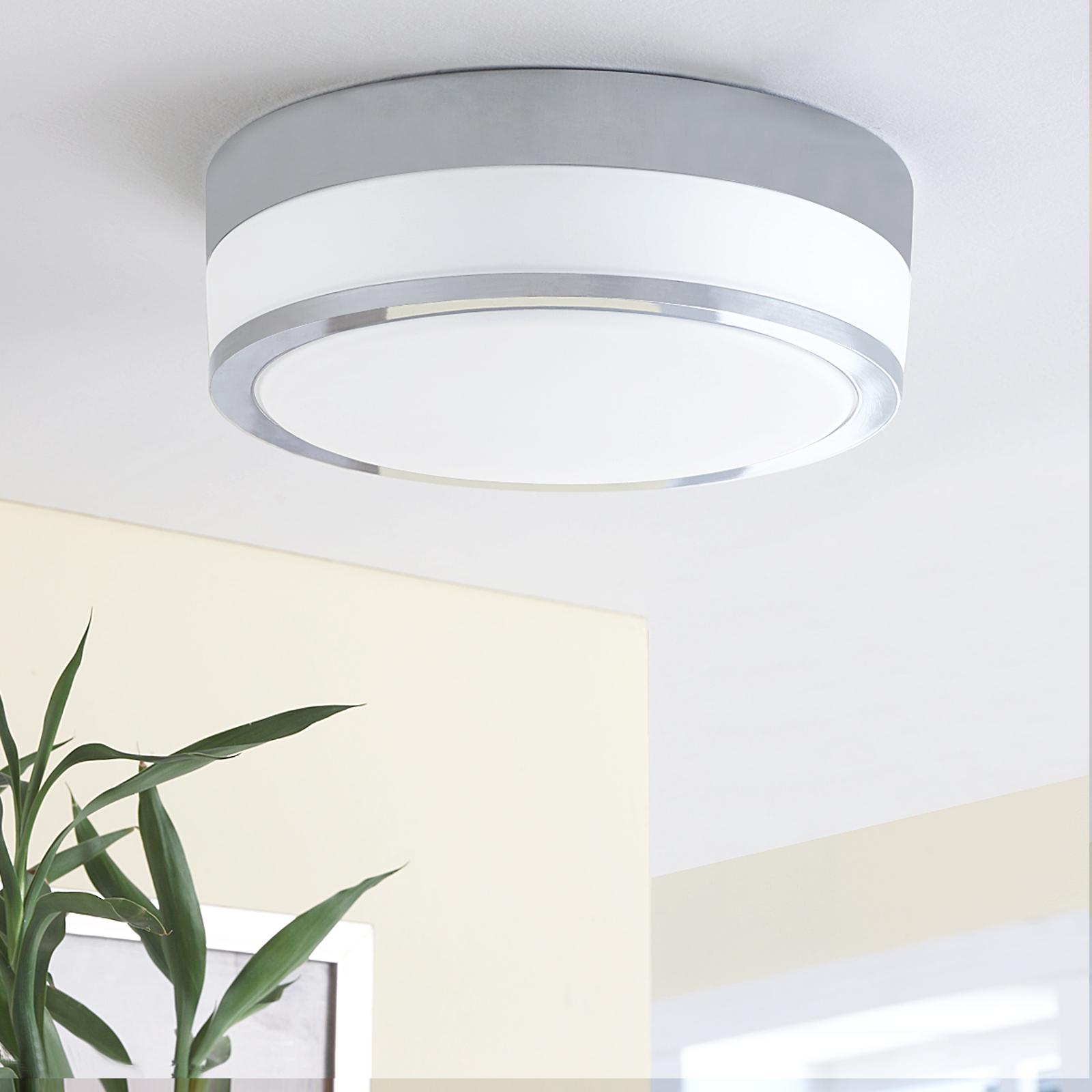 Lindby Flavi LED-Bad-Deckenlampe,  Ø 28 cm, chrom