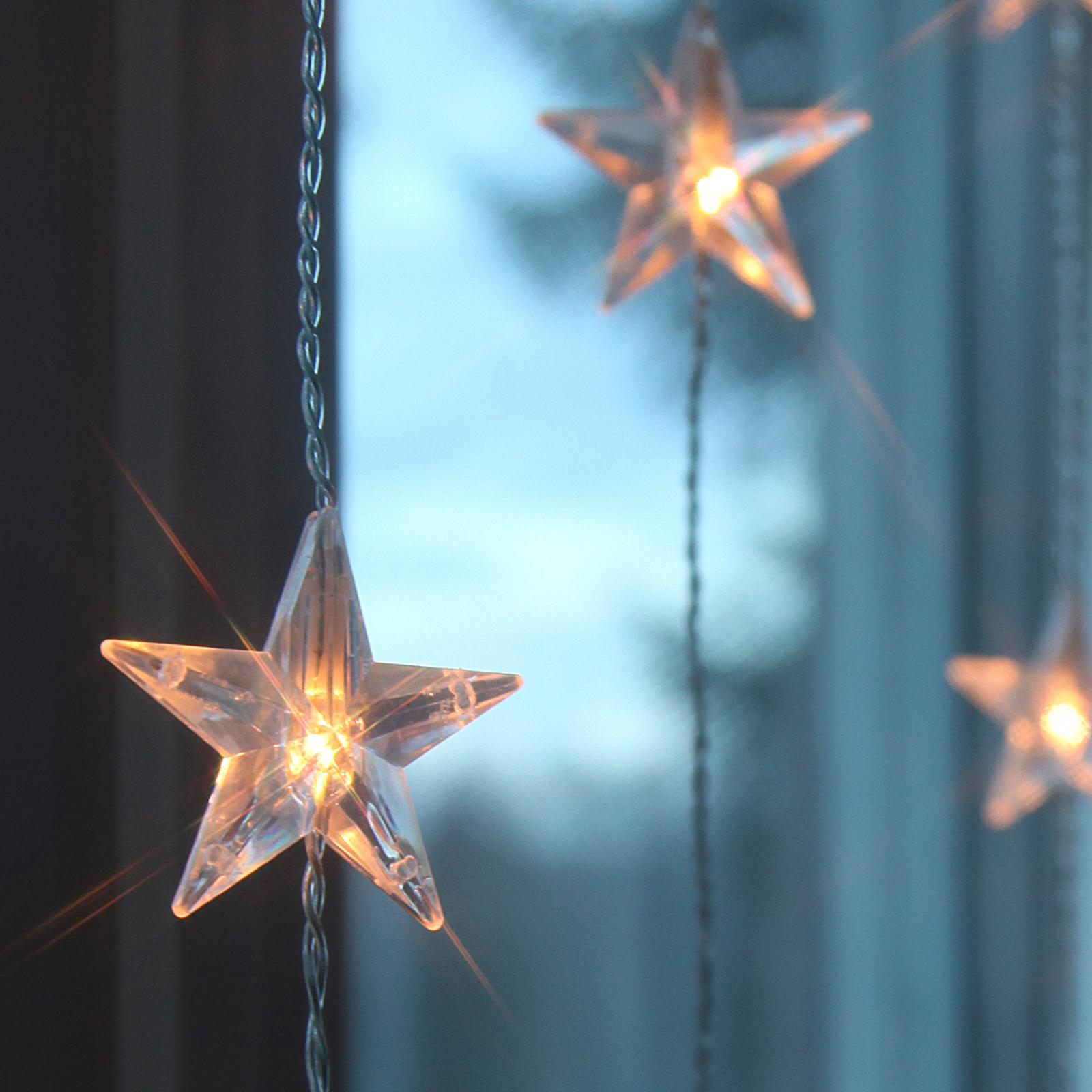 tio strängar - LED-Ljusgardin Star 20-ljuskällor.