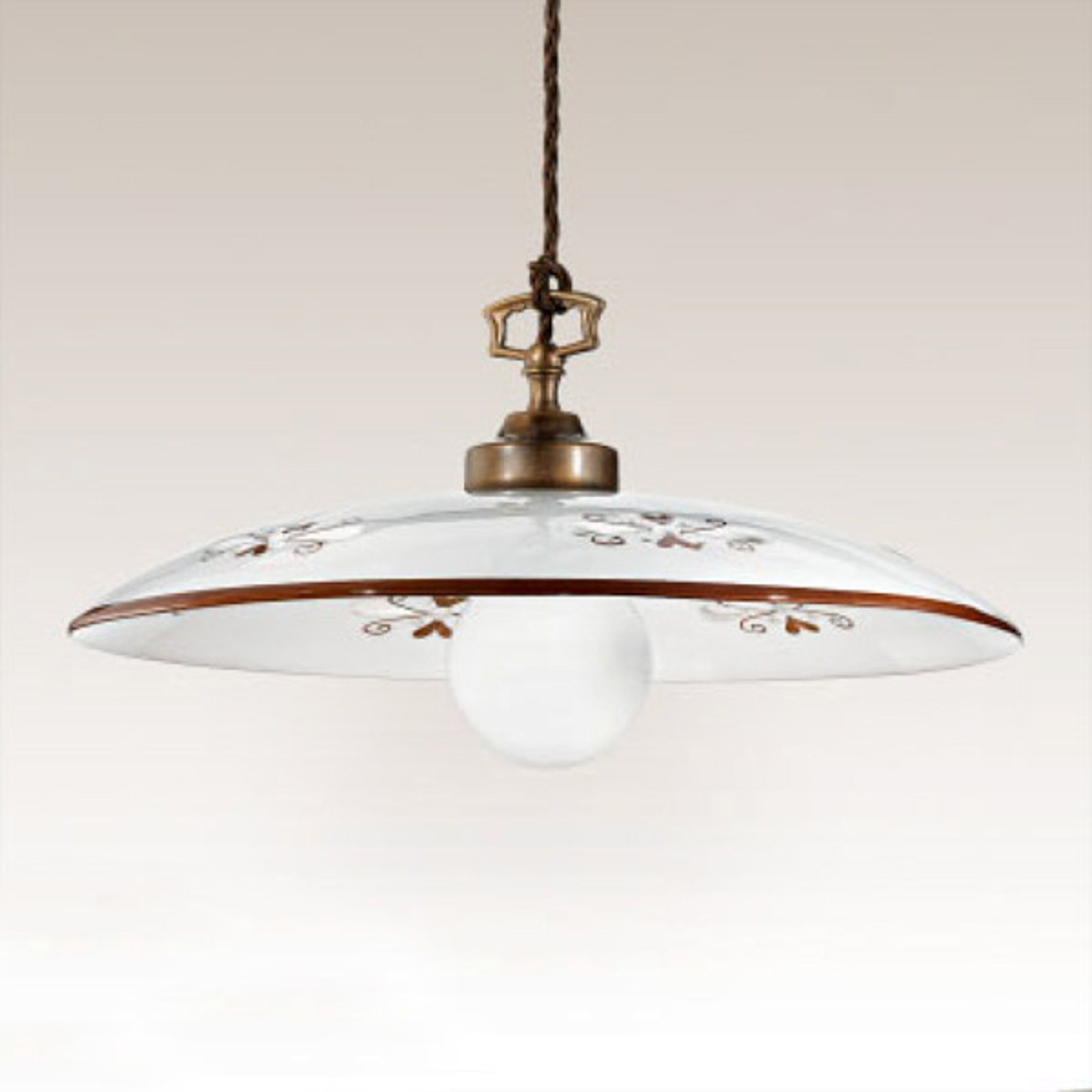 Smaakvolle hanglamp Bassano bruin