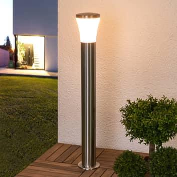 LED-vägglampa Sumea, rostfritt stål