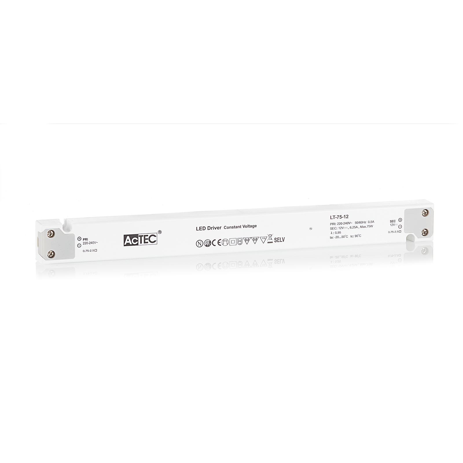 AcTEC LT LED-driver CV 12 V, 75 W