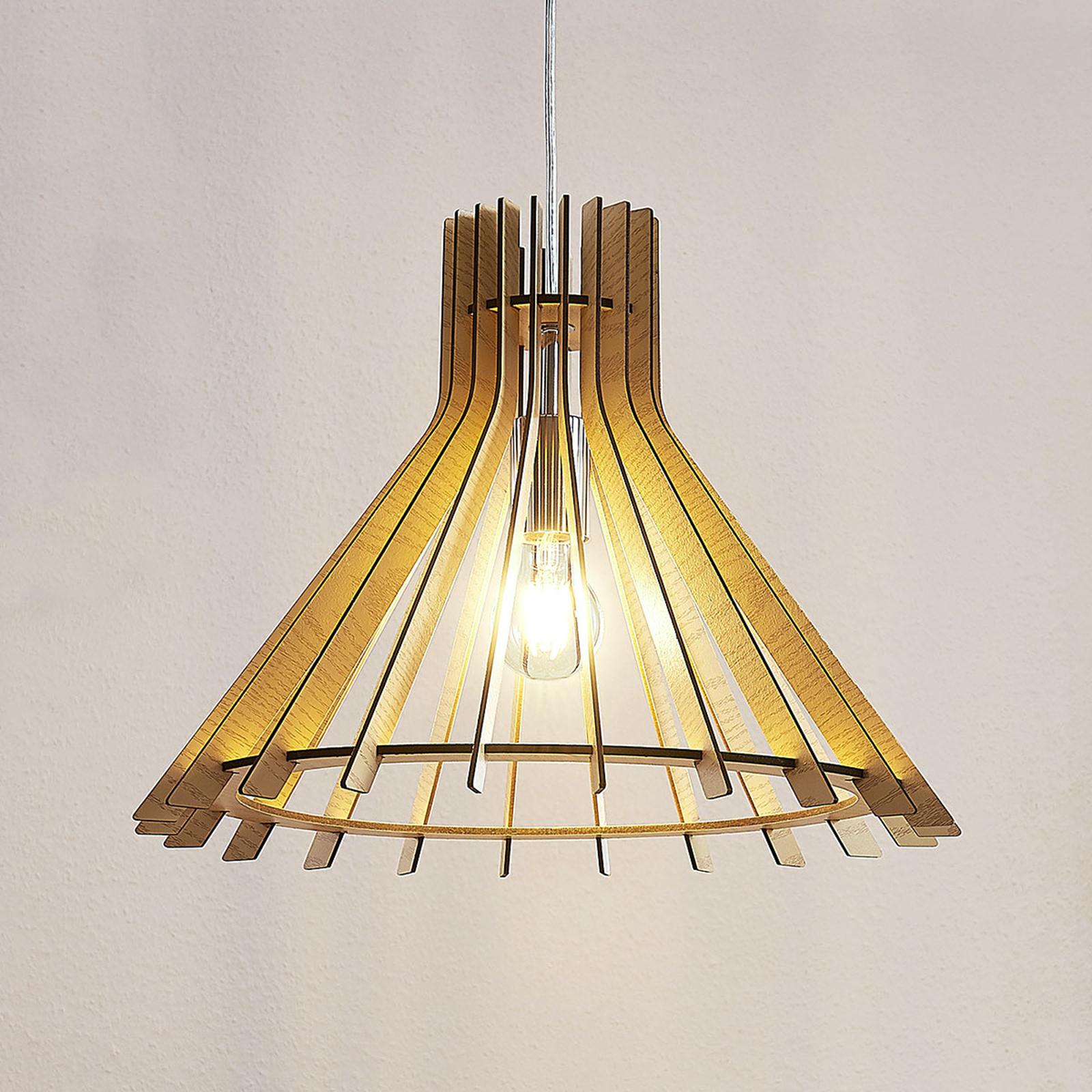 Lampa wisząca Diara z drewna MDF