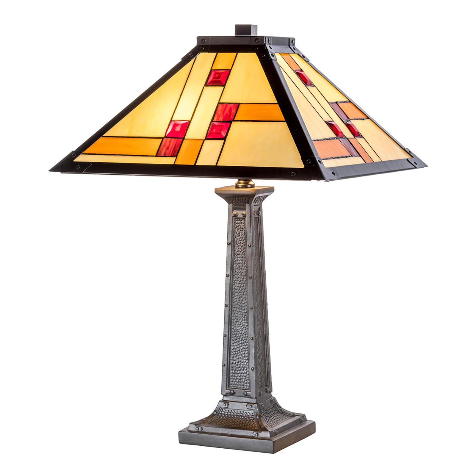 KT1836-40+P1836 bordlampe i Tiffany-stil