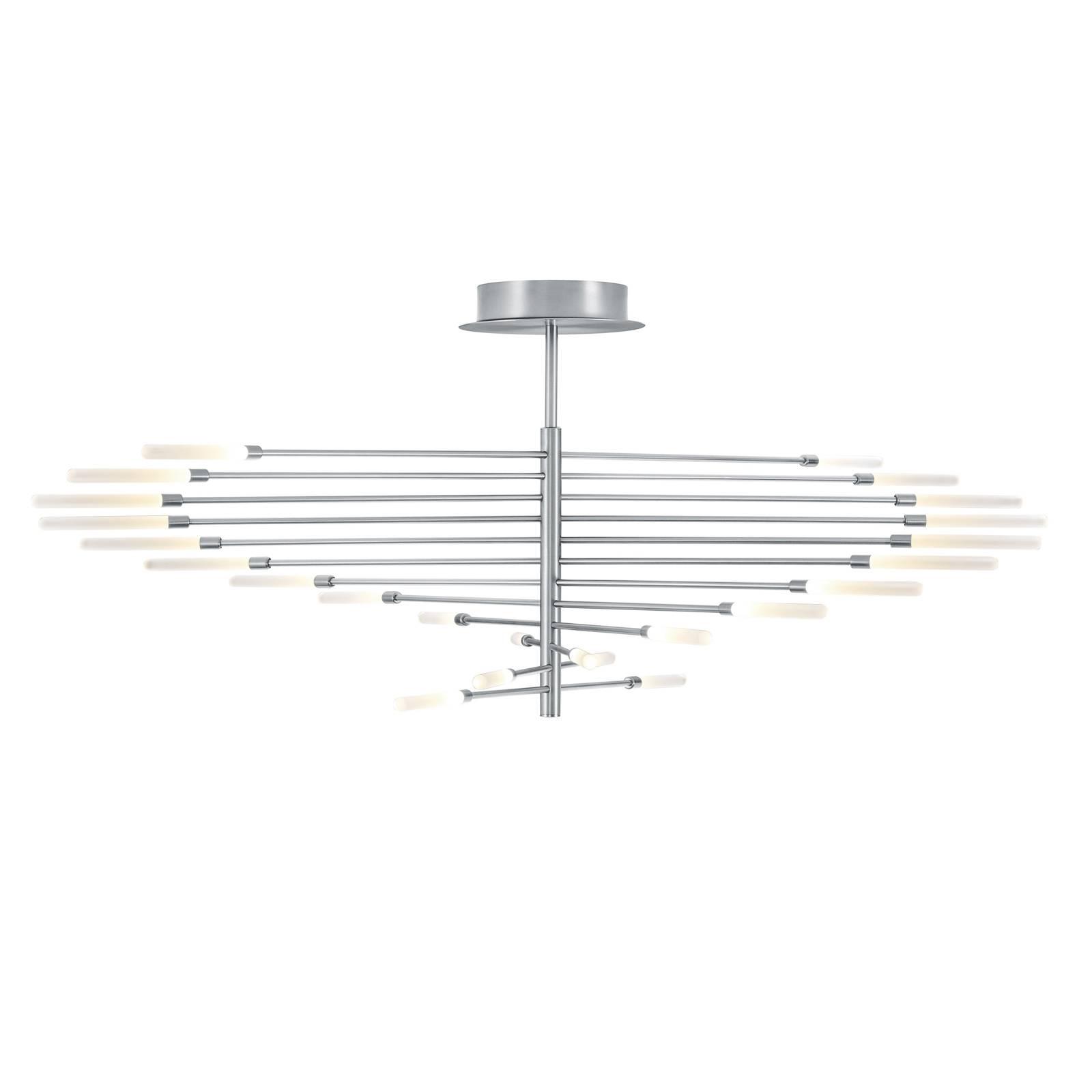 BANKAMP Lola lampa sufitowa LED 24-pkt. aluminium