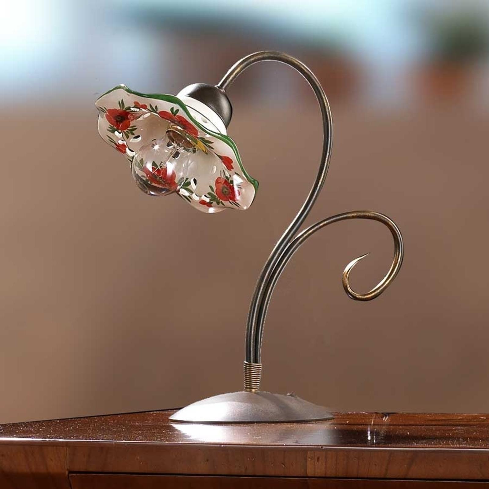 Tafellamp ROSOLACCI met kap van keramiek.