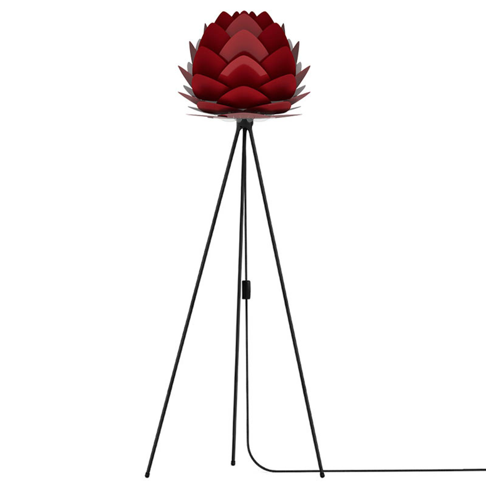 UMAGE Aluvia mini vloerlamp zwart/robijnrood