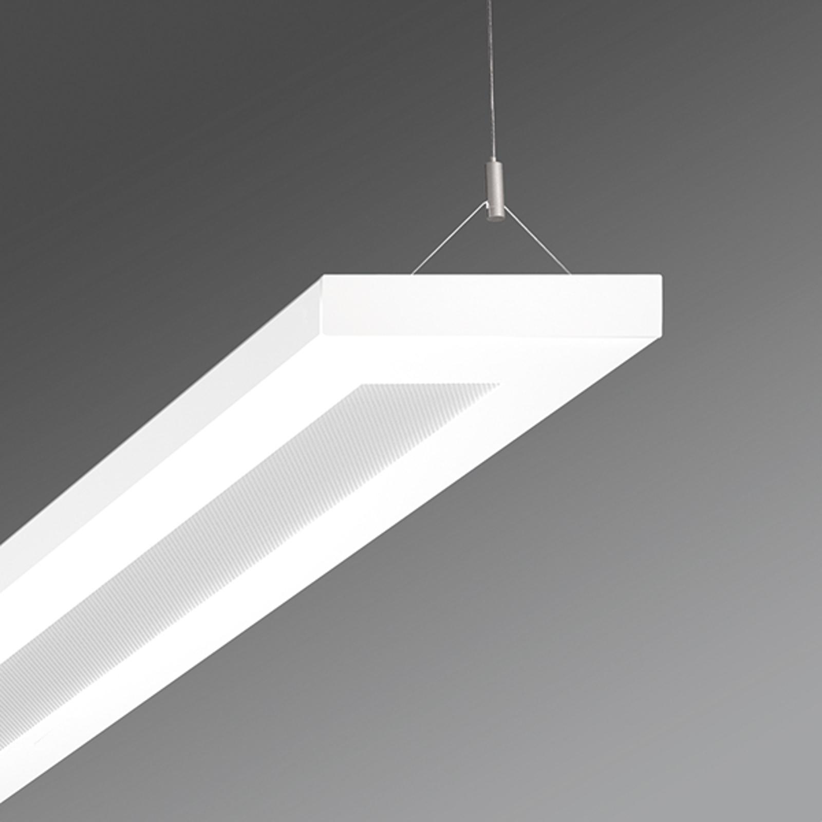 Pendellampe til kontor Stail mikroprisma 52W hvit