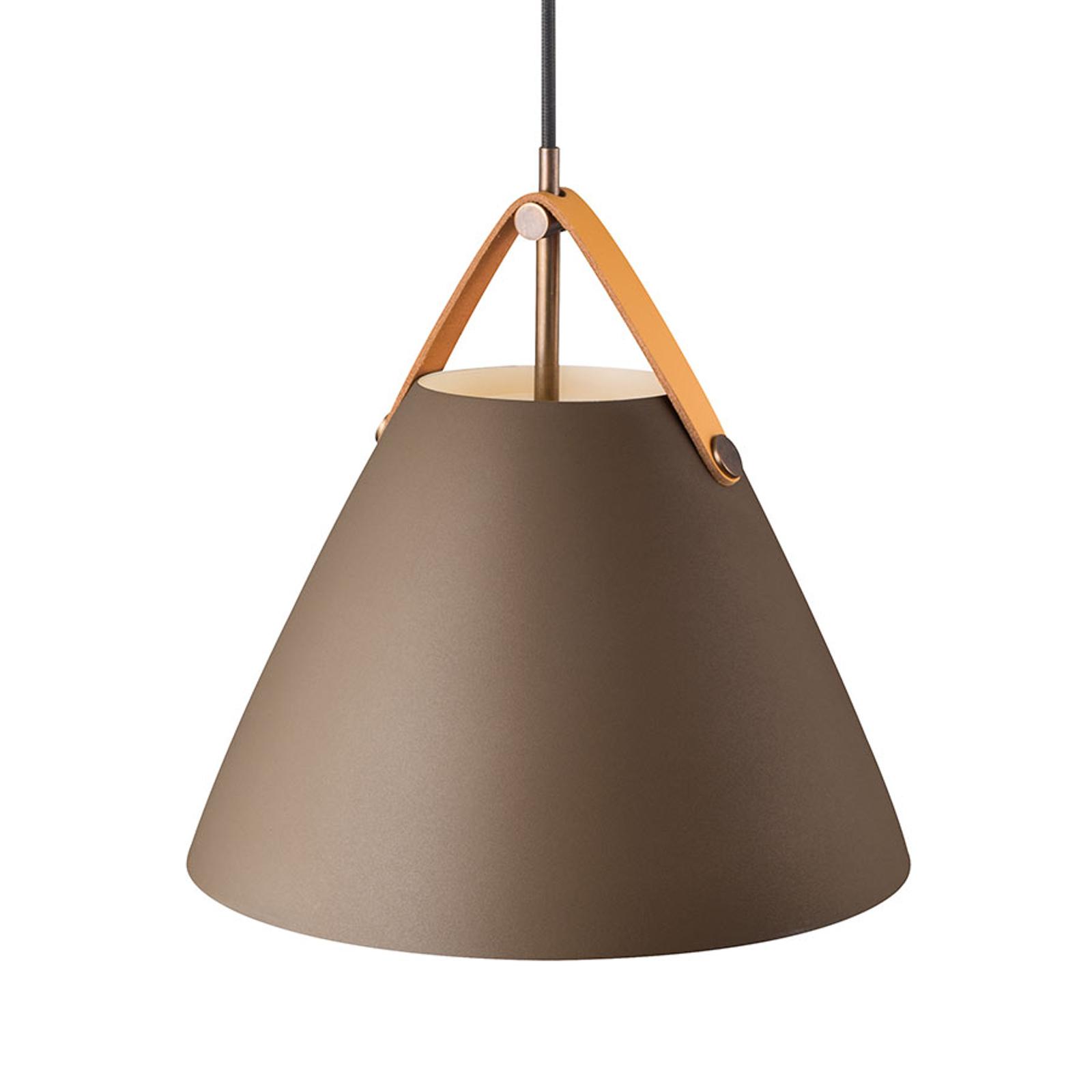 Hanglamp Strap met metalen kap beige, 27 cm