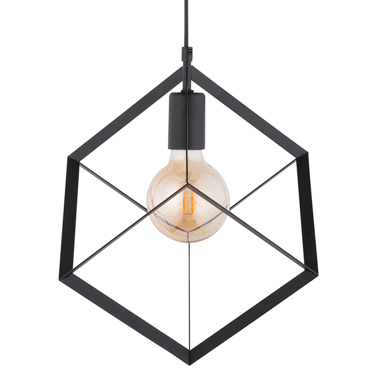 Hängeleuchte Cube 1 mit Metallwürfel, einflammig
