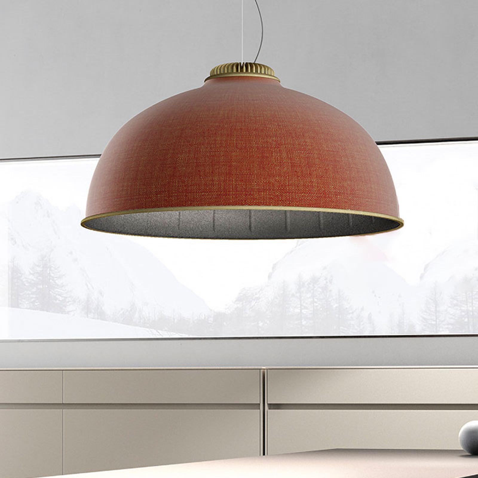 Luceplan Farel LED-hengelampe skjerm rust