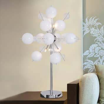 Stolní lampa Explosion v bílé/chrom