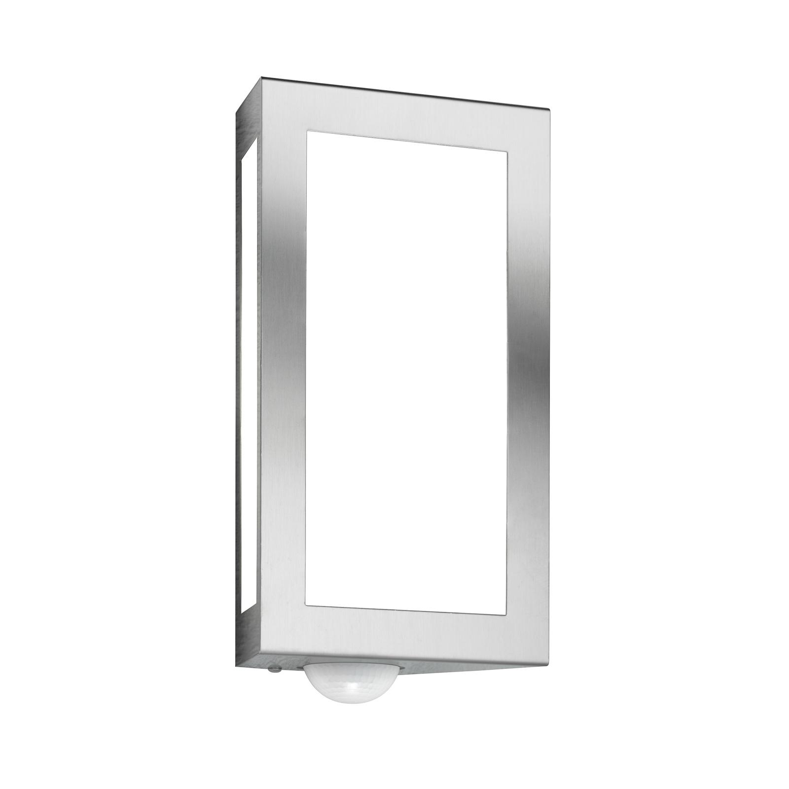 Außenwandlampe Long aus Edelstahl mit Sensor